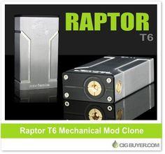 Raptor T6 Box Mod Clone – $23.99: http://www.cigbuyer.com/raptor-t3-box-mod-clone/ #ecigs #vaping #raptort6 #mechmod #modclone #vapelife #vapedeals