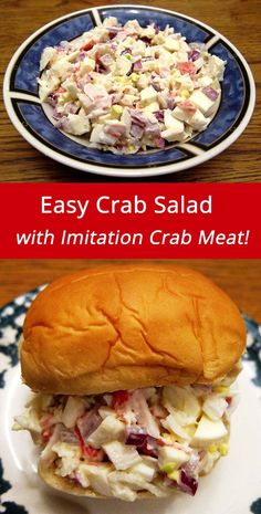 Easy Crab Salad Recipe With Imitation Crab Or Canned Crab Meat | MelanieCooks.com