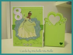 Princess Tiana Birthday Card and matching gift card holder  Gift Card Holder cut from Silhouette