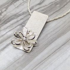Sterling Silver Flower Pendant Made in Canada by SparksByDesign #silvernicejewelry