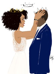 I crown you as my king. Why? Well because when I forgot my worth. You straightened my crown and allowed me to remember I was a beautiful black queen worth more than rubies simply priceless and very precious to you