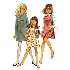 1960s Girls Dress and Jumper Butterick 5399 Vintage Sewing Pattern