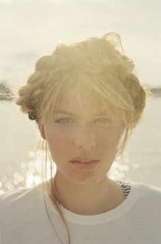 """""""Windswept"""" for Marie Claire  starring Camille Rowe  hair by Dennis Lanni  make up by Devra Kinery"""
