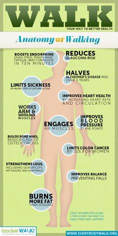 Walk Your Way to Better Health - along with drinking plenty of water, and getting regular massage and chiropractic care makes an exceptional wellness plan!