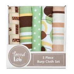 Gigi 5 Pack Burp Cloth Bundle Box Set