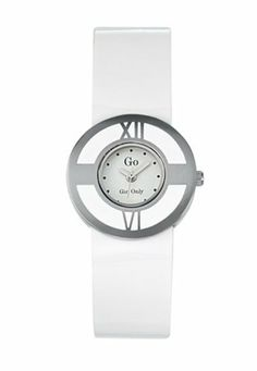 Go Women's 697664 White Dial Two-Tone White Patent Leather Watch Go. $62.99. Second hand feature. Steel buckle clasp. White stones in case. Black patent leather strap. Quartz movement. Save 42%!