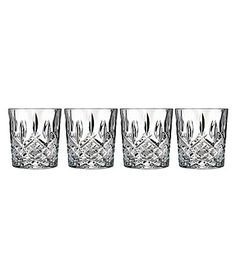 Marquis by Waterford Markham Traditional Crystal Double Old Fashioned Glasses Set of 4 #Dillards