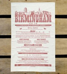 Tea Towel - Brum Facts (Salmon)