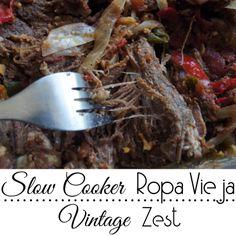 Diane's Vintage Zest!: Slow Cooker Ropa Vieja
