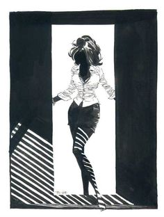 Sale, Tim Femme Fatale pin-up from sketchbook - W.B.