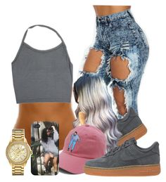 """""""I love this hat"""" by trillest-lyfe ❤ liked on Polyvore featuring NIKE and Bulova"""