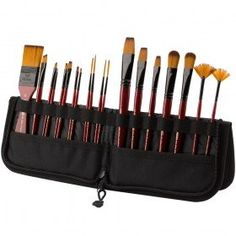 Acrylic Brushes, Paint Brushes, Paint Brush Holders, Stationary School, Artist Supplies, Brush Sets, Bob Ross, Origami Paper, Easels