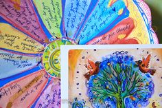 Gratitude flower and Tree of Life Card. By Lone Aabrink ( www.aabrink.dk )