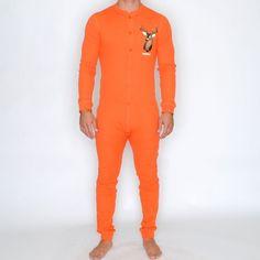 union suit - orange - toddland