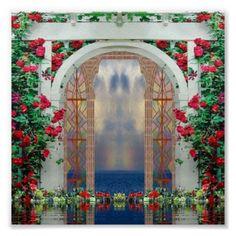 #Zazzle Enchanted Roses Garden Poster