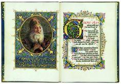 "SANGORSKI, Alberto (1862-1932, iluminador). - Robert Browning (1812-1889). Versión manuscrito iluminado de Browning ""Ezra rabino Ben""."