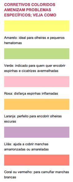 corretivos coloridos