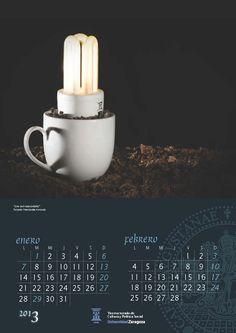 Calendario con las fotos del concurso