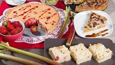 Také jste se tak těšili na rebarborovou sezonu? Pak máte důvod k radosti, je tady! Tyhle krásné červenozelené stonky jsou pastvou nejen pro oči, ale hlavně pro chuťové buňky. Vyzkoušet můžete hned tři rebarborové koláče – klasický drobenkový, s jahodami a čepicí z bílků a do třetice všeho vynikajícího i s tvarohem a rozinkami! Sweet Tooth, Pancakes, Bread, Breakfast, Food, Morning Coffee, Brot, Essen, Pancake