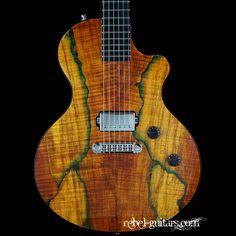 Berumen FlatTop Spalted Maple Jr | Rebel Guitars