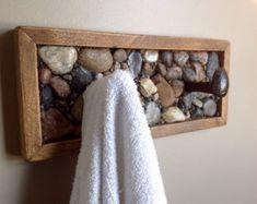 Rustic Towel Rack or Coat Rack Five & Six Hook by RedOakRoad