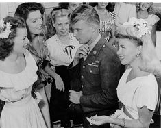 Hollywood Canteen with Ginger Rogers on the right.
