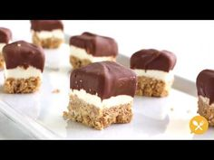 Chocolate Covered Mini No-Bake Cheesecake Bites - SoFabFood Video