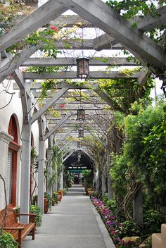 Walkway immediately outside of front door of Mission Inn by theDarkHalo, via Flickr