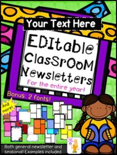 This editable product is perfect for any classroom in any grade! These are designed to fit your needs and comes with many different options.  HERE IS A TUTORIAL TO USE WITH THE PRODUCT! CLICK HERE   **To use this product, please download both fonts that are included before opening the PowerPoint.