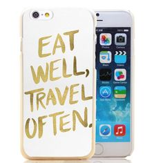 Hard plastic iPhone case with gold printed text! Durable and protective!  Fits iPhone 6!