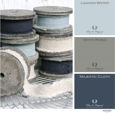East of India Linen Ribbon on Spool - Linen is always beautiful, but these blues and whites on the weathered grey spools are dreamy. Wabi Sabi, Magnolia Pearl, Linens And Lace, Fibre Textile, Fibres, Linen Fabric, Fabric Ribbon, Shades Of Blue, Color Inspiration