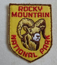 Rocky Mountain National Park --  Colorado Souvenir Travel Patch
