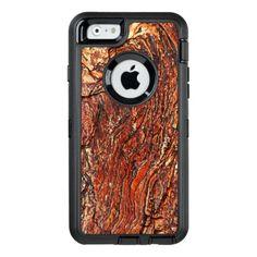 #rustic - #Reddish Brown Rock Texture OtterBox Defender iPhone Case