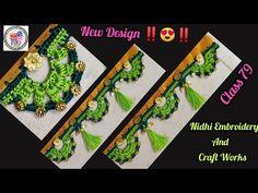 Saree Kuchu New Designs, Saree Tassels Designs, Blouse Designs, Crochet Flower Tutorial, Crochet Flowers, Stylish Blouse Design, Designer Socks, Chrochet, Crochet Designs