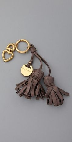 Juicy Couture Leather Tassel Keychain