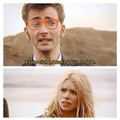 Hipster Tenth Doctor just can't bring himself to admit that he loves Rose Tyler. #David Tennant #Journey's End # Doctor Who meme