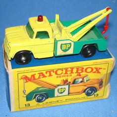 Vintage Matchbox Lesney 13 Dodge Wreck Tow Truck Hood my brothers collected all these