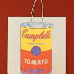 Andy Warhol Campbell's Soup Can On Shopping Bag, 1966 – Objets – Barnebys. Andy Warhol Soup Cans, Campbell's Soup Cans, Victor Vasarely, Art Premier, Shopping Bag, Canning, Orange, Bags, Handbags