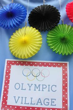 Cameron's Olympics Party Birthday Party Ideas | Photo 1 of 40 | Catch My Party