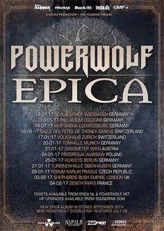 Powerwolf und Epica zusammen auf Tour - https://fotoglut.de/musik-2/musik-news/2016/powerwolf-und-epica-zusammen-auf-tour/