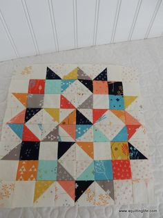 Moda Love Mini Quilt | Free Pattern | A Quilting Life - a quilt blog