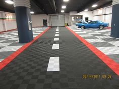 Cool road design for garage floor tiles