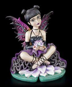 Gothic Elfen Figur - Little Shadows - Luna | Elfen | Figuren | Dekoration | Gothic-Shop | www.figuren-shop.de