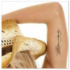 Tijdelijke Tattoo Boheemse pijl Boho Fake Tattoos realistische dunne duurzaam waterdicht Afmeting: 3,5-inch H x 0.8 W U ontvangt een tatoeage en volledige instructies. De tatoeages zal laatste 7-10 dagen. Lees de volledige toepassing instructies alvorens de tatoeage. Vragen aarzel
