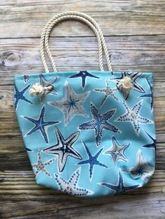 613daae47c Items similar to Tropical Starfish Beach Tote Bag