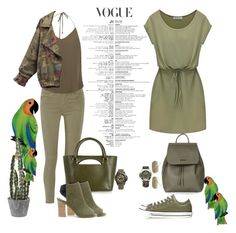 """army, olive #15"" by furvadia ❤ liked on Polyvore featuring Victorinox Swiss Army, Converse, J Brand, Haute Hippie, J.W. Anderson, Sole Society, Topshop, Lacoste, Isabel Marant and NOVICA"