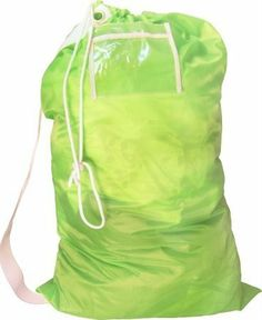 a34a5cc09dd Nylon Laundry Bag with Shoulder Strap and ID Pocket. EASE OF USE: Has nylon  drawstring with lock to keep the bag locked to ...
