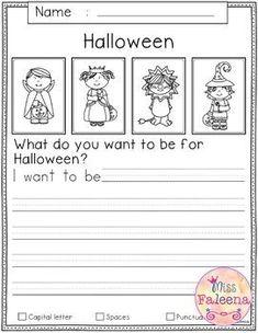 Narrative Writing Prompts, Kindergarten Writing Prompts, Writing Prompts For Kids, Teaching Writing, Kindergarten Worksheets, Writing Ideas, Creative Writing, Halloween Writing Prompts, Writing Activities