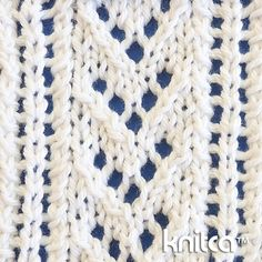 Reversible 12 stitch 5 row repeat Cast on a multiple of 12 stitches. Row 1…