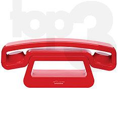 ePure Twin phone in red by Swiss Voice
